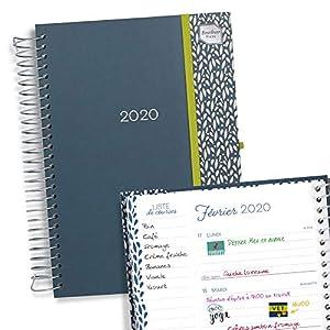 Boxclever Press Mon Agenda au Quotidien 2020. Agenda 2020 semainier parfait pour la maison, la famille et les horaires chargés. Commence maintenant jusqu'à décembre 2020 2