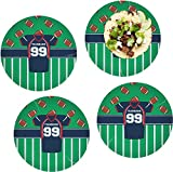 Football Jersey Set of 4 Lunch / Dinner Plates (Glass) (Personalized)