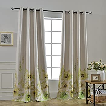 Amazon Com Lush Decor Clara Room Darkening Window Curtain