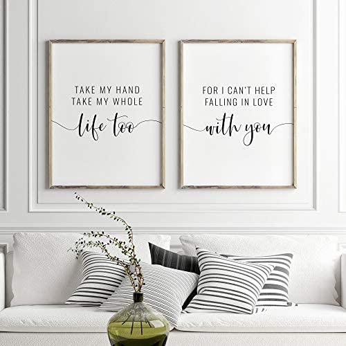 Scripture Wall Art Digital Download Set of 3 Prints And So Together They Built A Life They Loved Print Love Quote Print Couple Gift