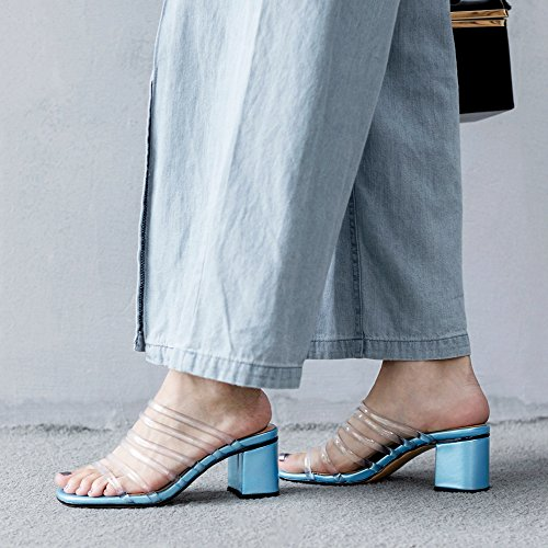 Sandales Chunky Taoffen Blue Creux Femmes rwwAqExt