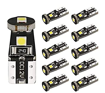 BOGAO Extremely Bright 3030 Chipset T10 W5W 168 194 2825 LED Bulbs for Car Interior Dome Map Door Courtesy License Plate Lights Compact Wedge Xenon White Pack of 10