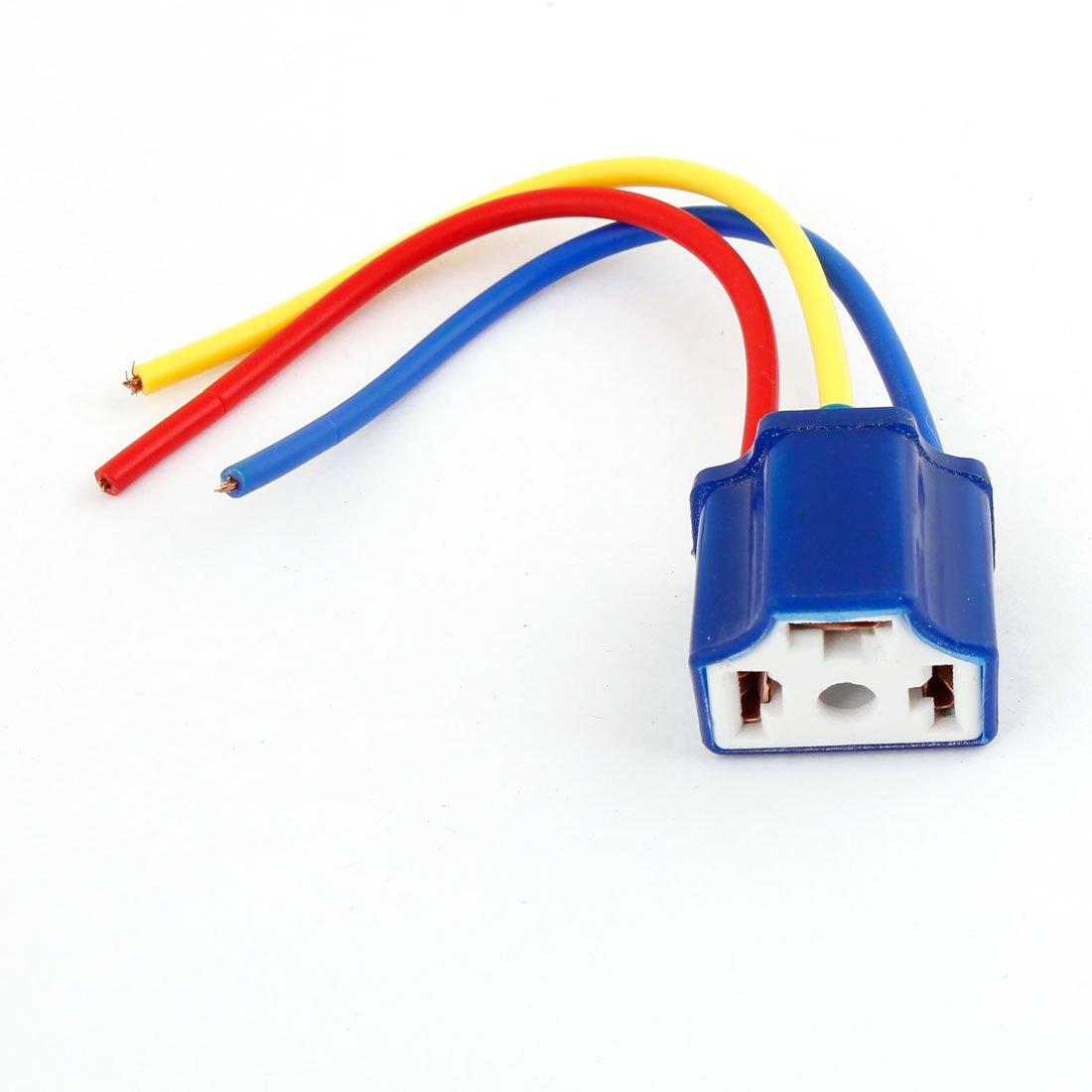 sourcingmap® Kfz-Scheinwerfer, H4 9003-Anschluss mit Kabel, Stecker ...