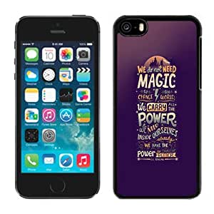 NEW Unique Custom Designed iPhone 5C Phone Case With We Do Not Need Magic JK Rowling_Black Phone Case