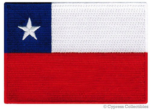 CHILE FLAG embroidered iron-on PATCH CHILEAN SOUTH AMERICAN EMBLEM - Store Online Chile