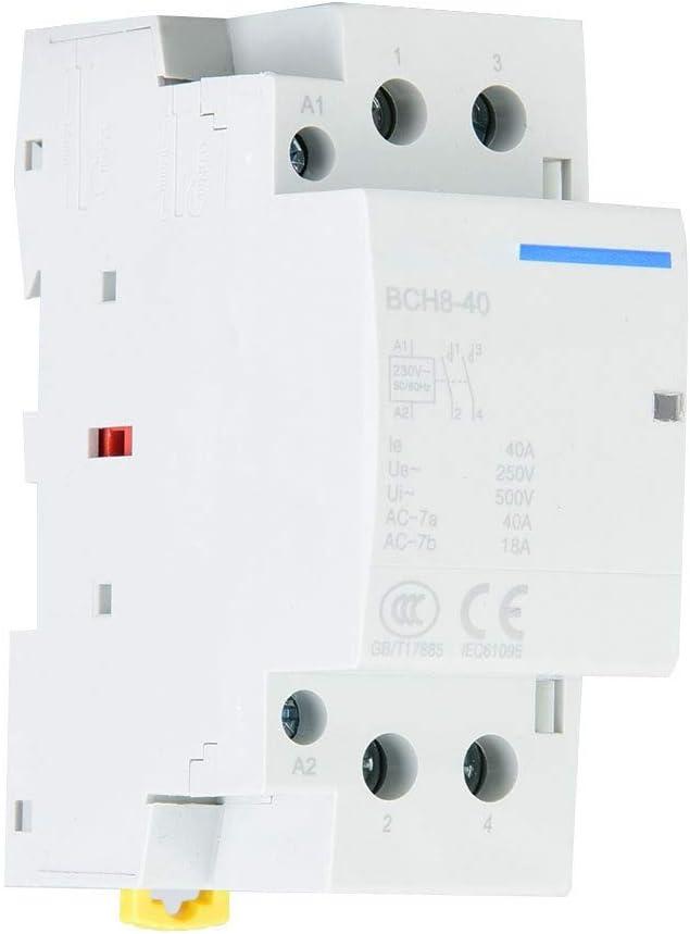 Contactor de CA, 2P 40A 1NO1NC 50/60HZ Contactor de CA Carril DIN Contactor de CA(220V/230V)