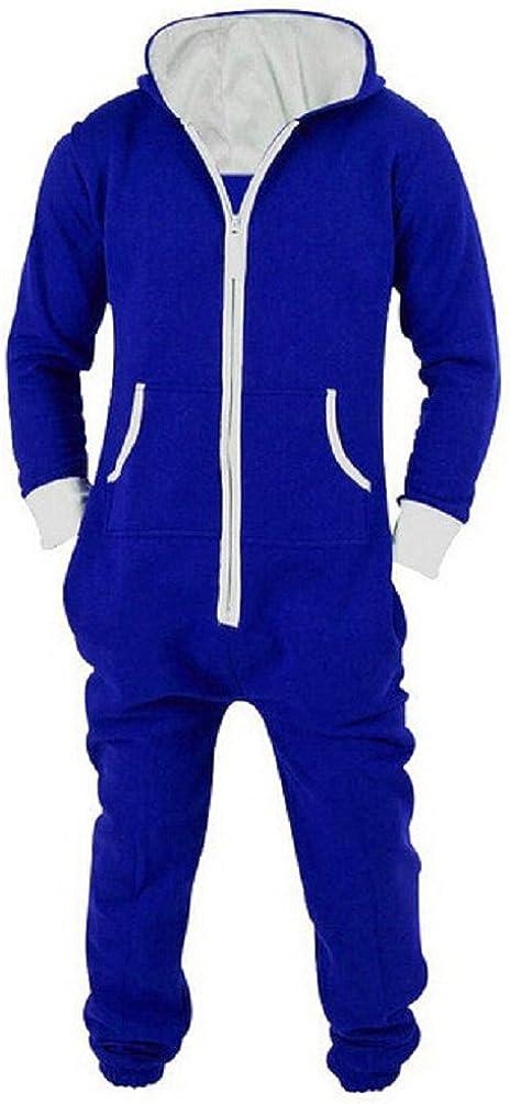 Nicetage Unisex-Adult Hooded Onesie Jumpsuit Printed Halloween Romper Overall Zip up Playsuit