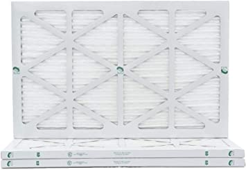 by Glasfloss Industries 12x24x1 Merv 8 Furnace Filter 12 Pack