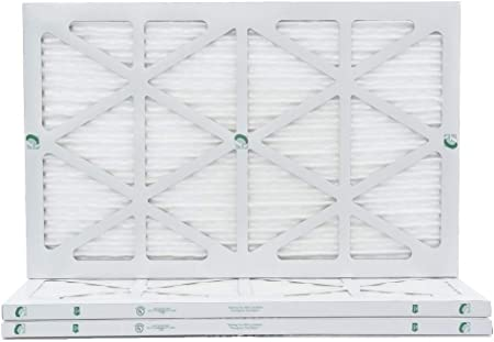 MERV 10 Glasfloss 16x18x1 Qty:4 - Pleated AC Furnace Air Filter Made in USA