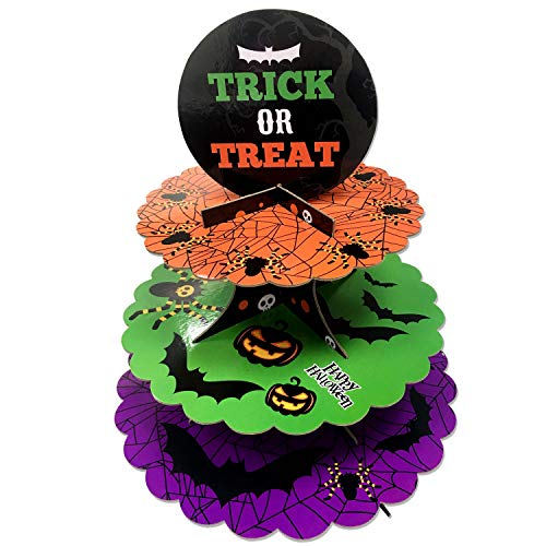 3 Tier Halloween Cardboard Cupcake Stand Tower Mini Round Cupcake Stand Dessert Cupcake Holder Halloween, Themed Party -