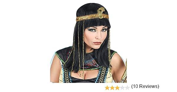 WIDMANN Srl peluca Buena suerte de Egipto con cinta para cabeza ...