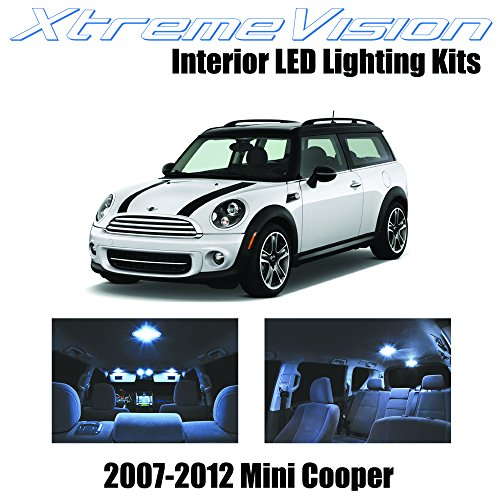 2009 10 Piece - XtremeVision Interior LED for Mini Cooper 2007-2012 (10 Pieces) Cool White Interior LED Kit Package+ Installation