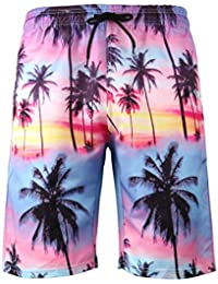 1ba36d689f Men Swim Trunks Big and Tall, Swimming Trunks Colorful for Men Board Shorts  3D Printed