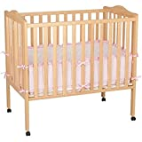 Natural Solid Hardwood Gorgeous Finish Adjustable Baby Crib
