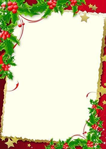 Papier à Lettre De Noël 5002 Format A4 50 Feuilles De
