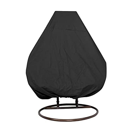 Zerodis Waterproof Furniture Protective Cover Swing Dust Cover Sunscreen Rocking  Chair Cover Single Swinging Egg Chair