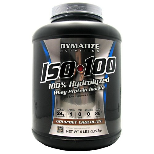Dymatize Nutrition ISO-100 Protein Gourmet Chocolate 5 lbs by Dymatize