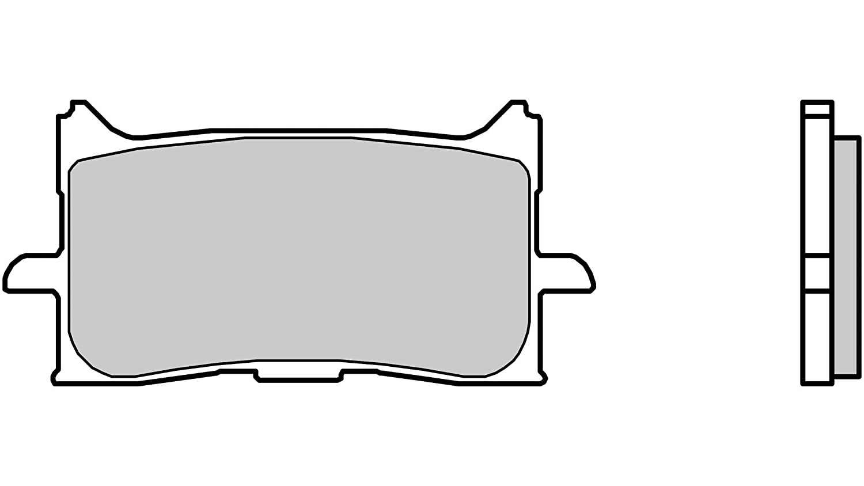 Brembo Bremsbel/äge 07BB0106 Carbonkeramik f/ür diverse Roller und Motorr/äder