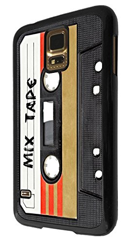 1082 - Cool fun mix tape casette player retro music dance hip hop rnb boom box Design For Samsung Galaxy S5 Mini Fashion Trend CASE Back COVER Plastic&Thin Metal - Black