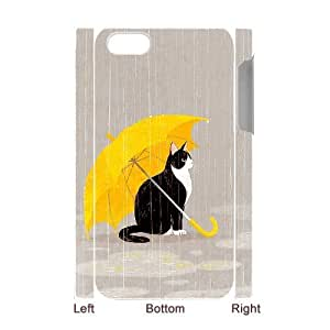 3D Case For iPhone 4/4s, Cats Case For iPhone 4/4s, White Yearinspace129373