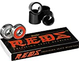 Bones Reds Precision Skate Bearings (8 Pack w/ 4 Spacers)