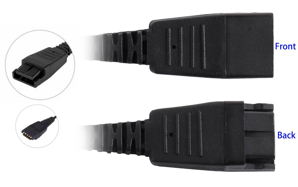 Call Center Headset USB Plug QD Cable Adaptor with Adjustable Volume and Microphone Mute Switch