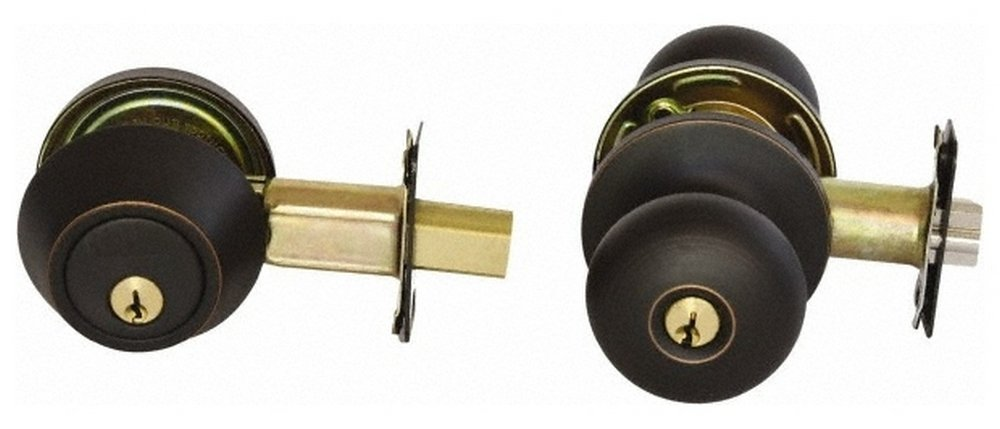 1-1/2 to 1-3/4'' Door Thickness, Antique Bronze Finish, Single Cylinder Deadbolt, Combination Override, Single Cylinder