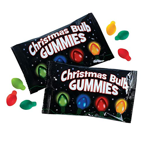 Christmas Light Bulb Gummy Candy (18 individually wrapped packs)