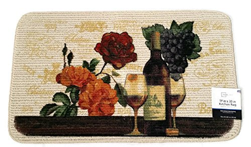 wine and grapes kitchen rugs - 1
