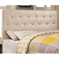 HOMES: Inside + Out ioHOMES Nile I Faux Crocodile Skin Adjustable Headboard, Full/Queen, Pearl White