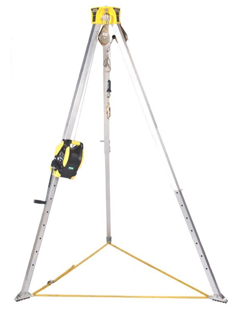 MSA Workman 8' Confined Space Kit with Aluminum Tripod and 65' Winch
