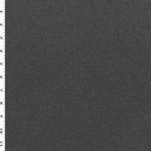 Deep Gray Wool Flannel Jacketing, Fabric by The Yard
