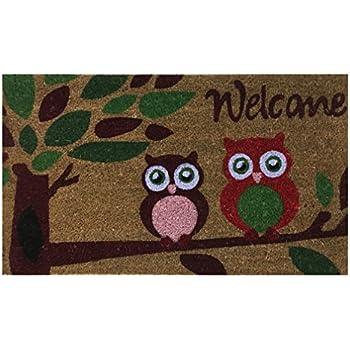 Amazon Com Kikkerland Dm24 Owl Doormat 30 Inch By 18