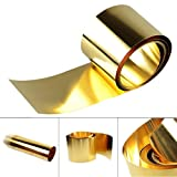 0.05mm x 100mm x 1000mm H62 Brass Metal Thin Sheet