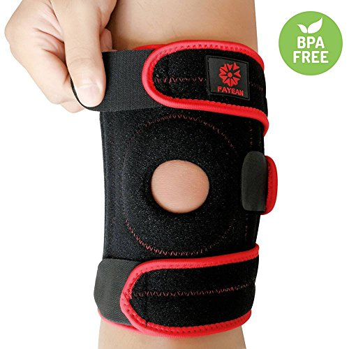 Knee Brace Support,Relieves ACL,LCL,MCL,Meniscus Tear,Arthritis, Tendonitis Pain,Open Patella Design Neoprene Adjustable Veclro,Breathable & Comfortable for Sports & Exercising Neoprene Patella Knee Sleeves