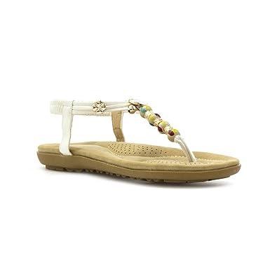 Lunar , Damen Sandale mit Zehensteg , beige - beige - Größe: 39