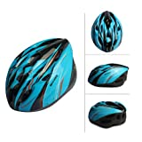 SAHOO New Eco-Friendly Bike Bicycle Integrated Helmet Cycling Adult Adjustable Safety Protection Helmets 18 Holes (Sky Blue-Black)