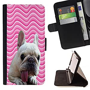 - FRENCH BULLDOG Chevron - - Premium PU Leather Wallet Case with Card Slots, Cash Compartment and Detachable Wrist Strap FOR Samsung Galaxy Note 4 SM-N910 N910 IV King case