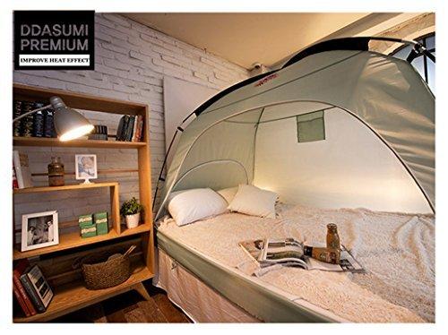 ddasumi Cálido tienda de campaña para cama individual sin Floor-Tienda de campaña interior, Mint, 88 inch X 47 inch X...