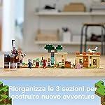 LEGO-Minecraft-LIncursione-della-Bestia-Set-di-Costruzioni-Ricco-di-Dettagli-per-Ragazzi-8-Anni-Il-Misterioso-Personaggio-di-Kai-Arriva-a-Salvare-gli-Abitanti-del-Villaggio-21160