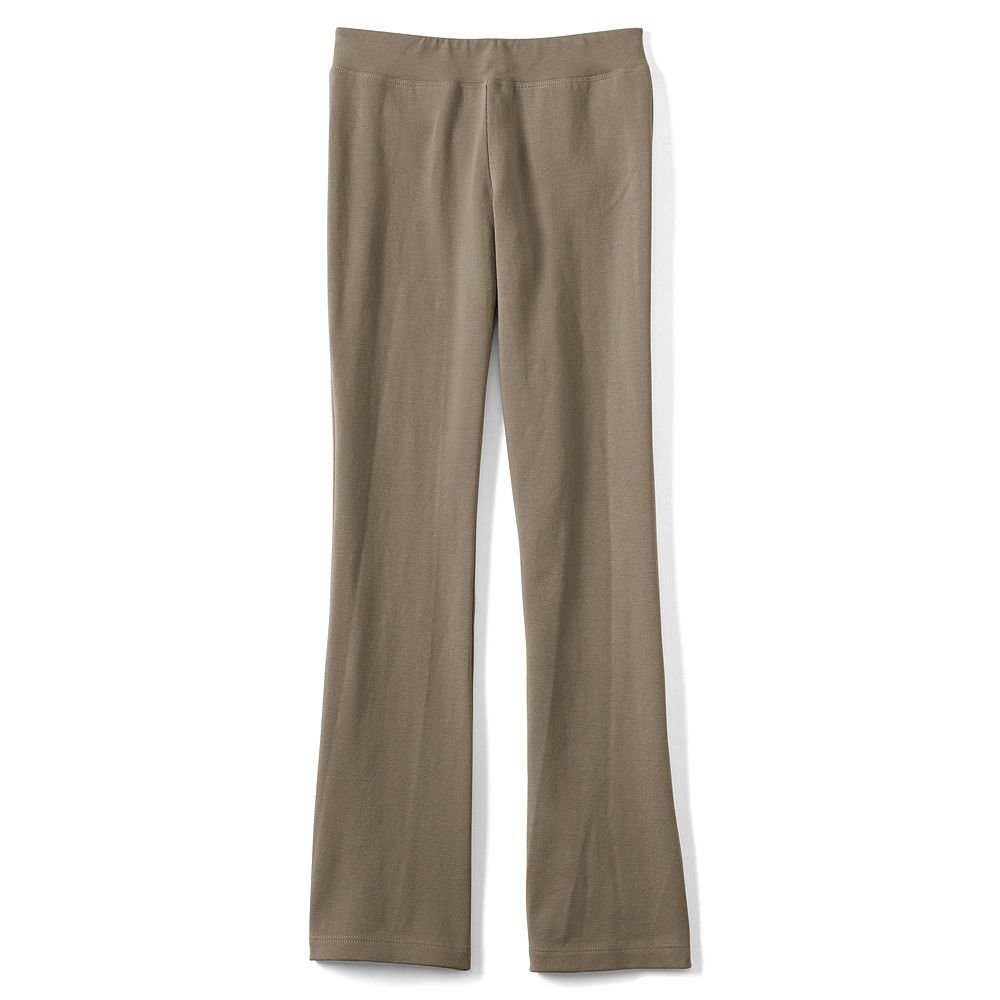 Lands' End Girls Plus Yoga Boot Cut Pants, M, Khaki