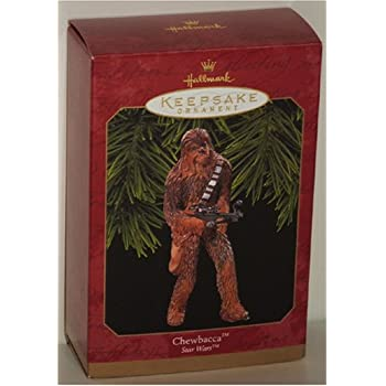 Amazon.com: Hallmark Star Wars Chewbacca Christmas Tree Ornament ...