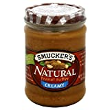 Smucker's Natural Peanut Butter, Creamy, 16 oz (Pack of 6)