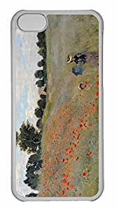 iPhone 5C Case, Personalized Custom Wild Poppies for iPhone 5C PC Clear Case