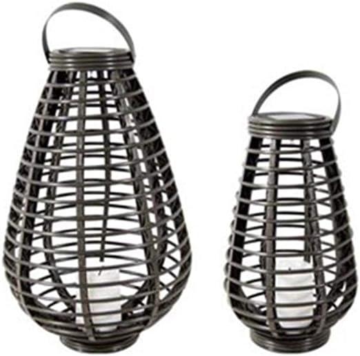 Farolillos solares rústicos resistentes al agua, sin llama, lámpara de energía solar, lámpara de ratán, luces LED decorativas para jardín, mesa o colgar (forma de gallo): Amazon.es: Iluminación