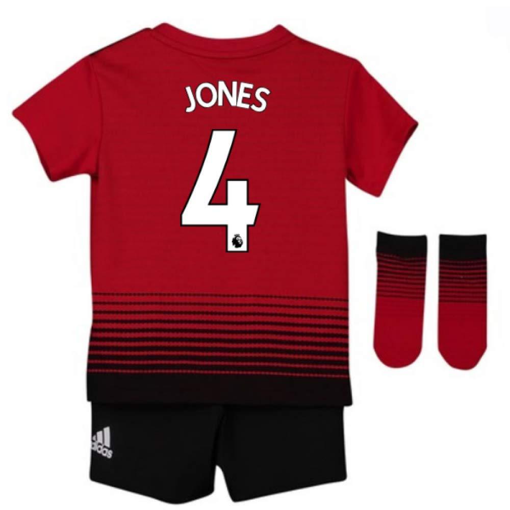 UKSoccershop 2018-2019 Man Utd Adidas Home Baby Kit (Phil Jones 4)