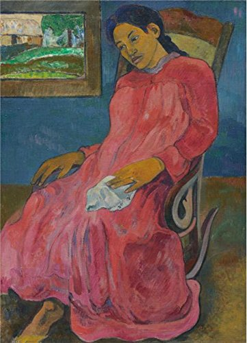 [Oil Painting 'Paul Gauguin,Faaturuma,1891', 10 x 14 inch / 25 x 35 cm , on High Definition HD canvas prints is for Gifts And Bed Room, Game Room And Gym Decoration,] (Ready For Action Military Costume)