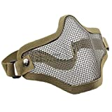 Outdoor Self-Defense Equipment Half a Face Of Steel Wire Guards Field Sports Masks Military Enthusiasts Equipment