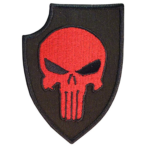 LEGEEON Punisher Shield US Navy Seals DEVGRU Morale Embroidered Sew Iron on Patch
