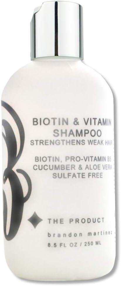 El mejor champú para el crecimiento del cabello. Champú estimulante con biotina para la pérdida y adelgazamiento del cabello. 8.5oz.